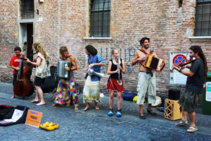 Buksers perform on the streets of Pittsburgh